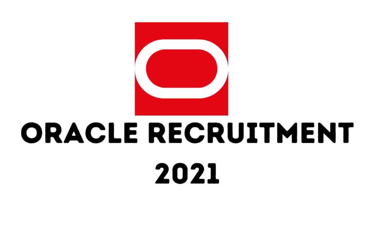 Oracle Recruitment 2021 | Jobs In Bangalore