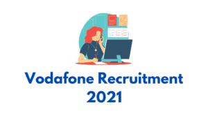Vodafone Recruitment 2021