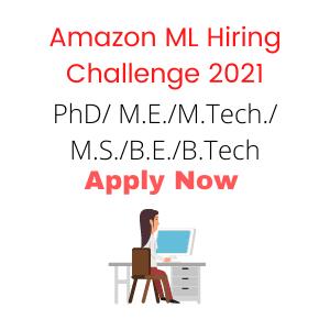 Amazon ML Hiring Challenge 2021