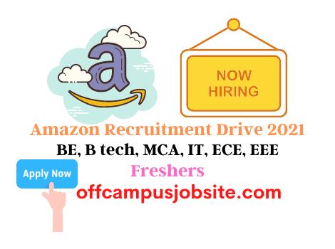 Amazon Recruitment Drive 2021