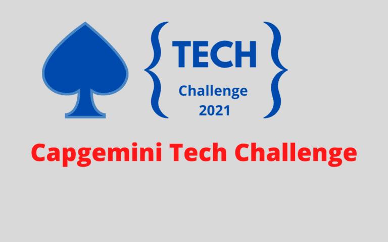 Capgemini Tech Challenge