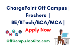 ChargePoint Off Campus Freshers BEBTechBCAMCA Apply Now