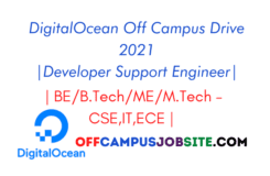 DigitalOcean Off Campus Drive 2021 Developer Support Engineer