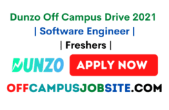 Dunzo Off Campus Drive 2021 Software Engineer Freshers