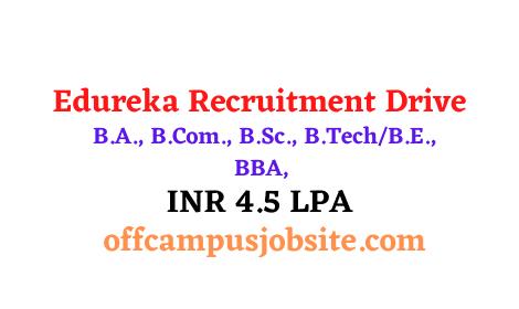 Edureka Recruitment Drive