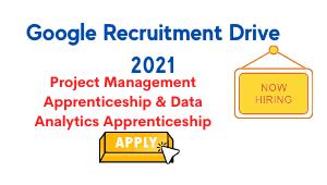 Google Recruitment Drive 2021