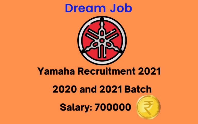Yamaha Recruitment 2021