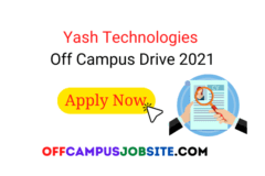 Yash Technologies Off Campus Drive 2021