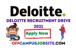 Deloitte Recruitment Drive 2021