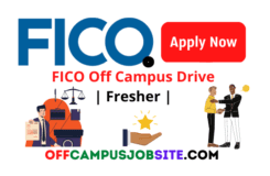 FICO Off Campus Drive 2021 Fresher