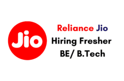 Reliance Jio off campus drive Hiring Fresher BE B.Tech