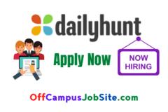 Dailyhunt Off Campus Drive 2021